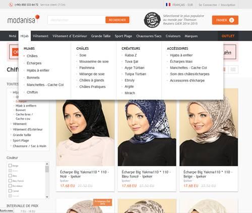 Screenshot modanisa.com